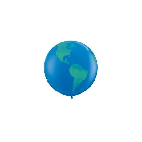 Globos del mundo 3 39 qualatex en globos bola del mundo para - Bola del mundo decoracion ...