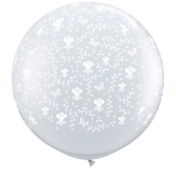Globos flores 3'-90cm Qualatex