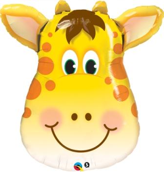 globo jirafa cara 80cm foil en la categoria globos de animales