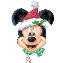 Globo Mickey Santa foil