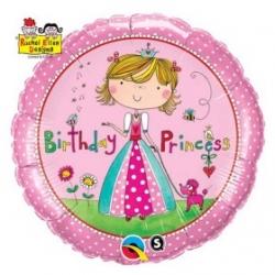 globo feliz cumpleaos princesa foil