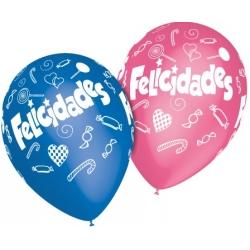 "Globos Felicidades caramelos 11""-28cm TG"