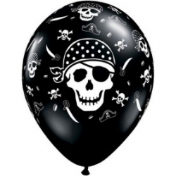 "Globos piratas 11""-28cm Qualatex"