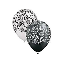"Globos damasko 11""-28cm Qualatex (25u)"