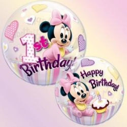 Bubble Burbuja Minnie 1er cumple