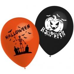 "Globos Halloween calabaza 10""-25cm TG"