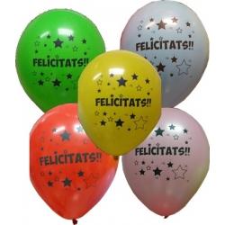"""Globos FELICITATS 12""""-30cm TG (10)"""