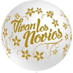"""Globos Vivan novios 36""""-90cm TG (1)"""