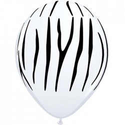 "Globos CEBRA 11""-28cm Qualatex"