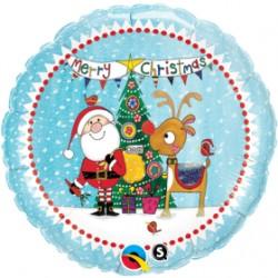 Globo Santa y Rudolph Rachel foil