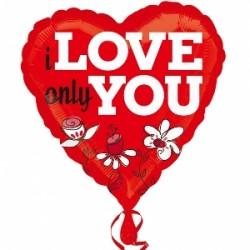 Globo I only love you 45cm Foil