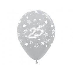 """Globos Número 25 12""""-30cm Sempertex"""