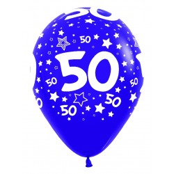 """Globos Número 50 12""""-30cm Sempertex"""