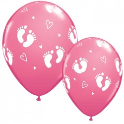 "Globos PISADAS BEBE 11""-28cm Qualatex"