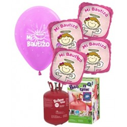 Pack globos MI BAUTIZO Plus