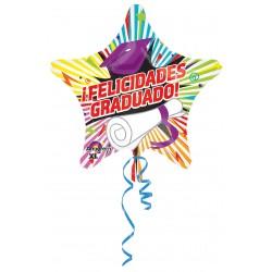 """Globo Felicidades Graduado estrella 18""""-45cm"""