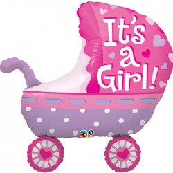Globo It's a Girl carro foil