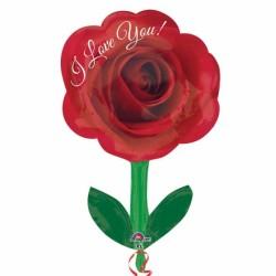 Globo Rosa Tallo 45cm Foil