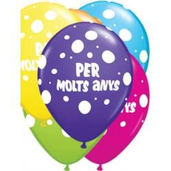 """Globus Per Molts Anys 11""""-28cm Qualatex"""