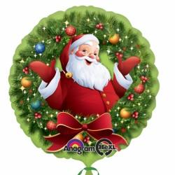Globo Papa Noel corona 45cm foil