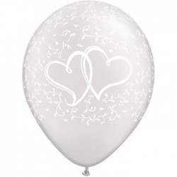 "Globos cor enlazados 11""-28cm Qualatex"