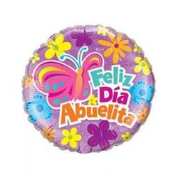 "Globo FELIZ DIA ABUELITA 18""-45cm Qualatex"