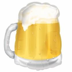 Globo jarra de cerveza foil