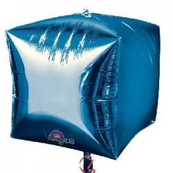 "Globo cubo foil azul 15""-38cm"