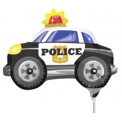 "Globo Coche policía 9""-23cm foil"