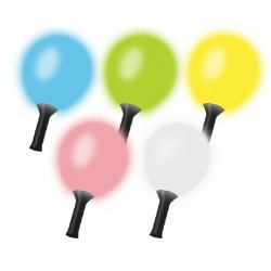 Globo maraca con led MULTICOLOR