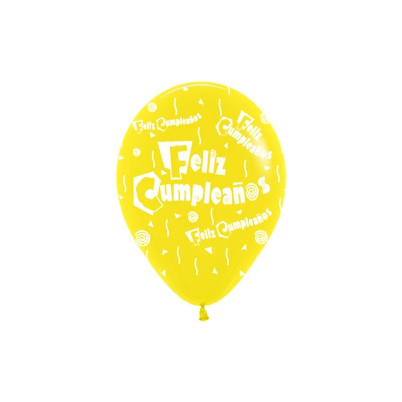 Globos feliz cumplea os 12 30cm en globos con n meros - Bombas de cumpleanos ...