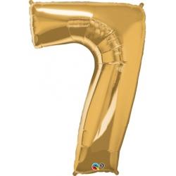 Globo Número 7 de foil Qualatex