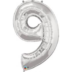 Globo Número 9 de foil Qualatex
