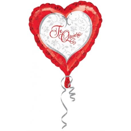 Globo Te Quiero corazones 45cm Foil