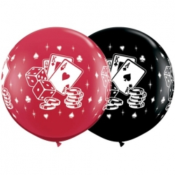 Globos casino 3'-90cm Qualatex