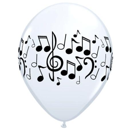 Globos De Notas Musicales 11 28cm En Globos Para Eventos Musicales