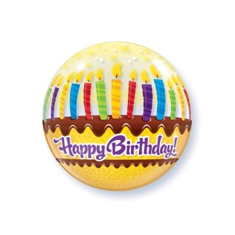 Bubble Burbuja Cumpleaños velas