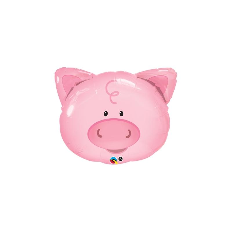 Globo Cerdo cara 76cm foil