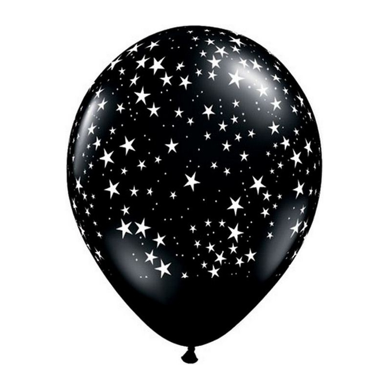 "Globos estrellas 11""-28cm Qualatex (25u)"