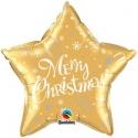 Globo Estrella Feliz Navidad Inglés foil