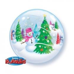 Bubble Burbuja Muñeco Nieve