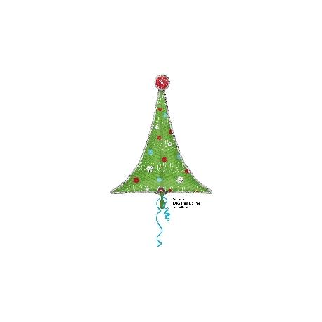 Globo Árbol Navidad sencillo foil