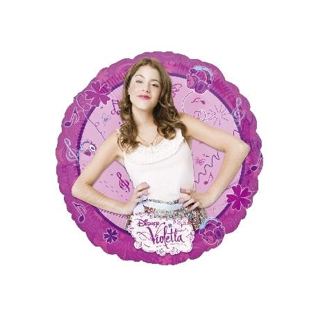 Globo Violetta Redondo Foil