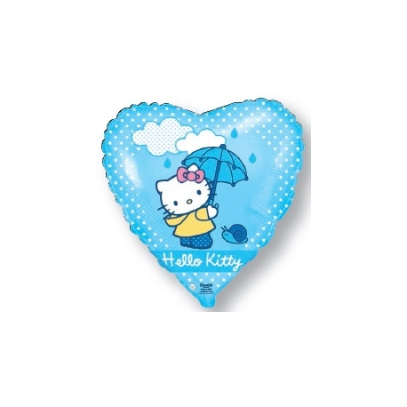 Globo Hello Kitty paraguas corazón foil