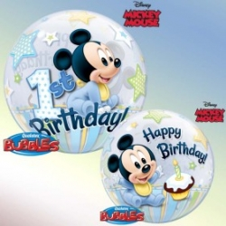 Bubble Burbuja Mickey 1er cumple