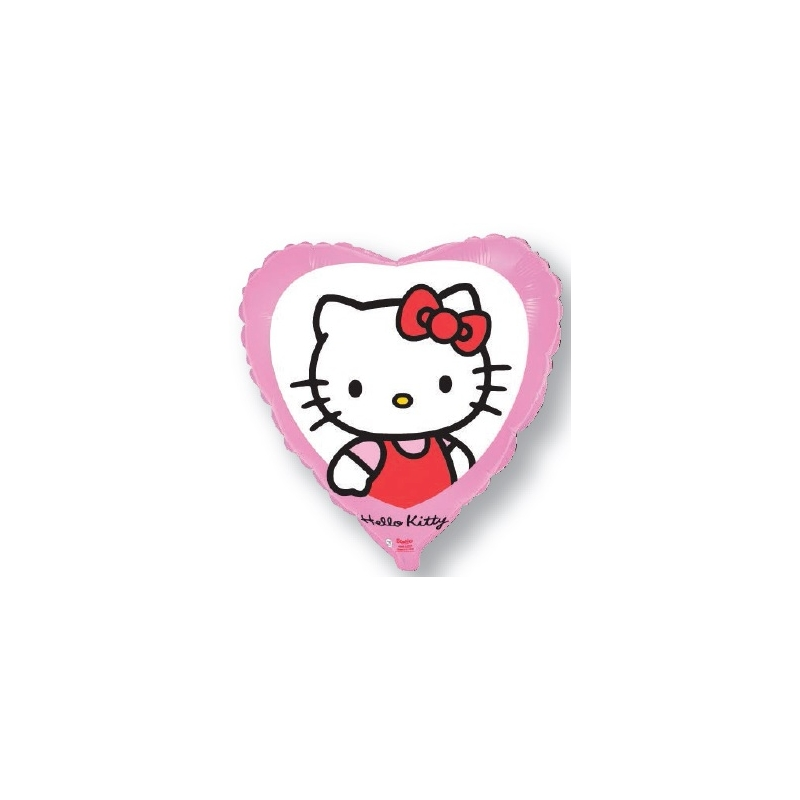 Globo Hello Kitty corazón rosa foil