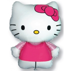 Globo Hello Kitty rosa forma Foil