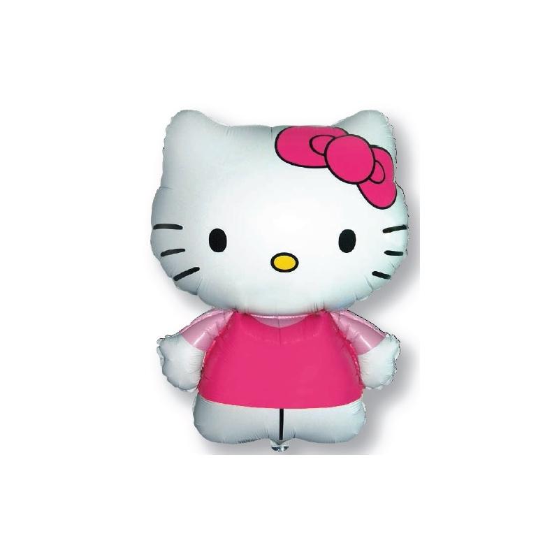 Globo Hello Kitty rosa forma Foil