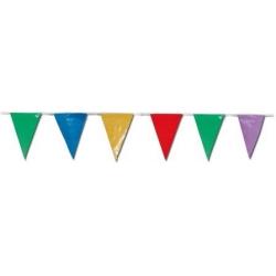 Banderas triángulos 50m multicolor