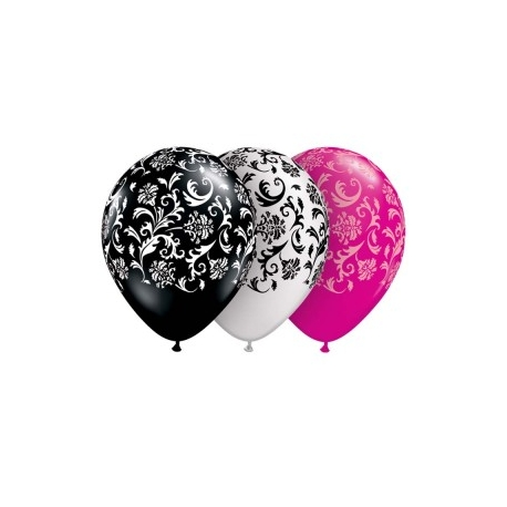 "Globos damasko 11""-28cm Qualatex (10u)"